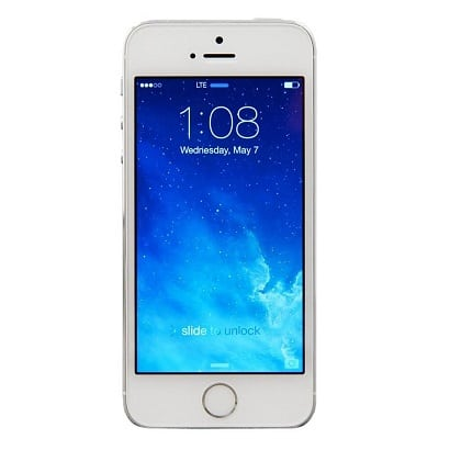 iPhone 5S Silver Front Screen