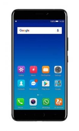 Gionee A1 Plus Black Front Screen