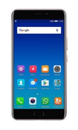 Gionee A1 Plus Moocha Gold Front Screen