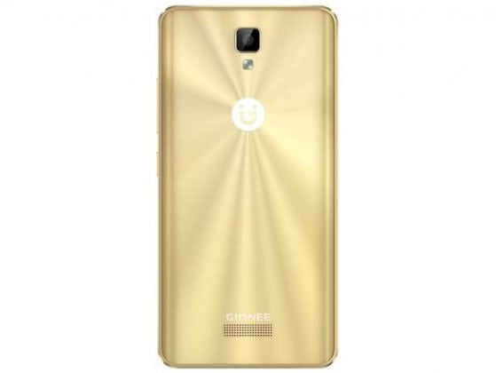 Gionee P7 max gold back