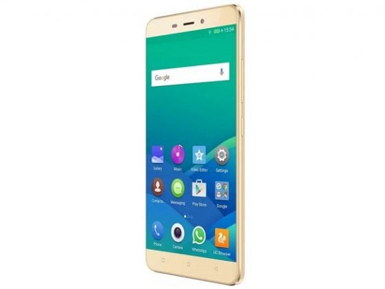 Gionee P7 max gold side