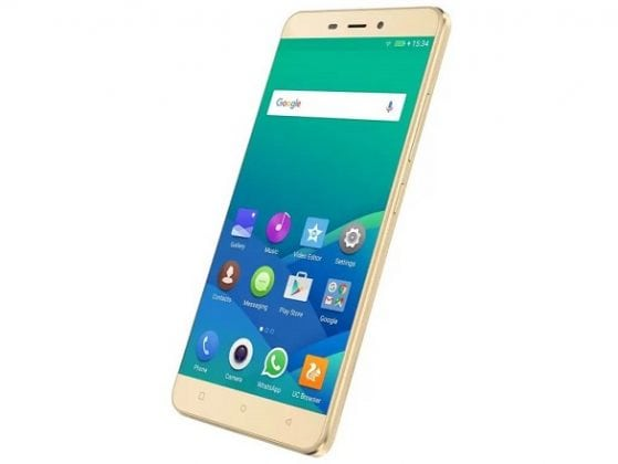 Gionee P7 max gold slide