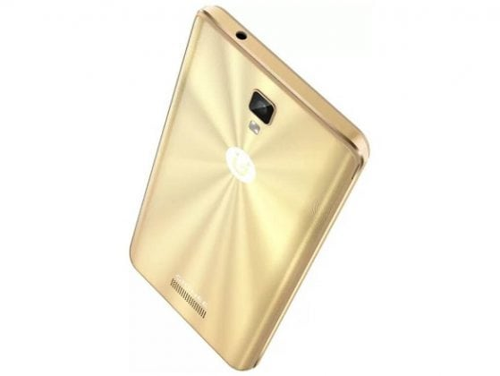 Gionee P7 max slide up gold