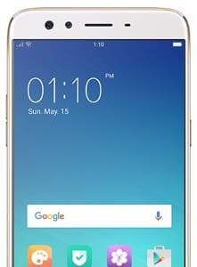 Oppo F3 Plus Gold Front Screen