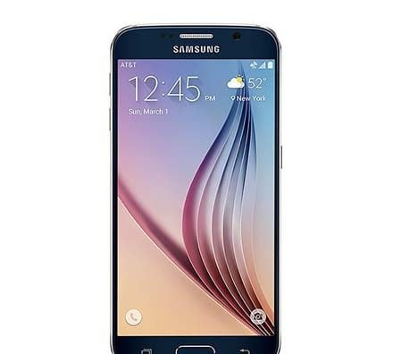 Samsung Galaxy S6 Black Sapphire Front Screen