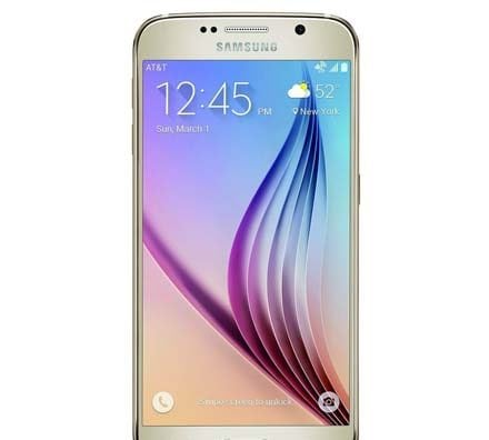 Samsung Galaxy S6 Gold Front Screen