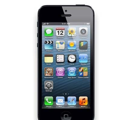 iPhone 5 Black Front Screen