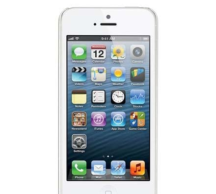 iPhone 5 White front screen