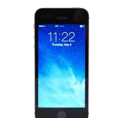 iPhone 5S Gray Front Screen