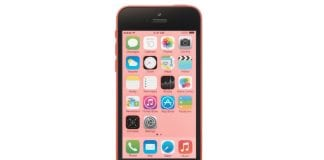 iPhone 5C Pink Front Screen