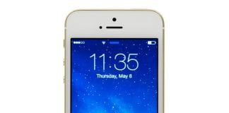 iPhone 5S Gold front Screen