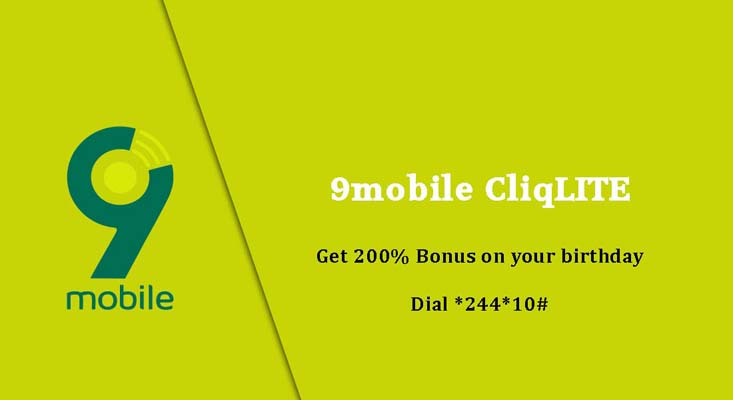 9mobile Images - 9mobile cliqlite free bonus on birthday