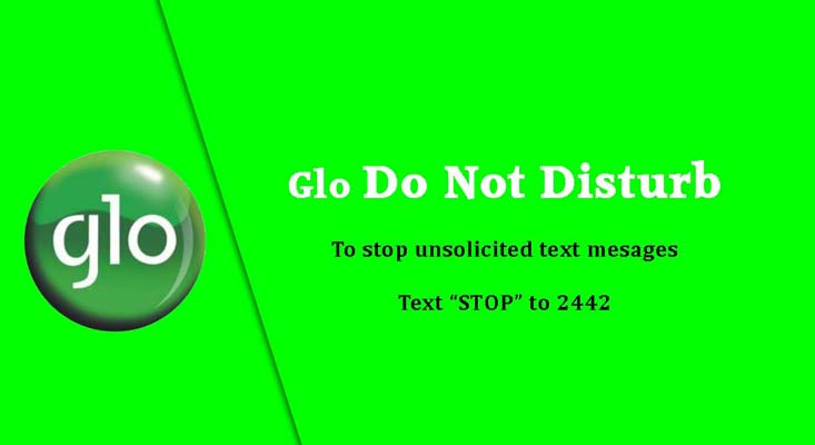 Globacom images - Glo do not disturb for spam text