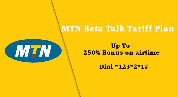 MTN images - Beta Talk with 250 percent bonus